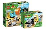 Collectix Lego Duplo, set 10931 escavatore e camion + caricatore 10930