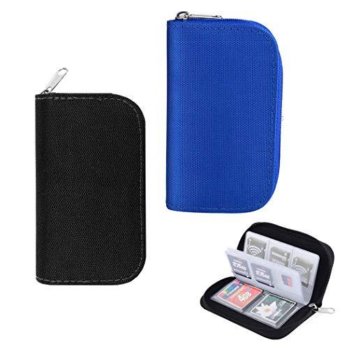 HEEFEN 2 Stück 22 Schlitze Speicherkarten Aufbewahrung Tasche SD, SDHC, Micro SD, Mini SD Schutzhüllen Tasche