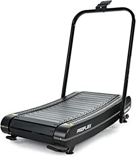 PROFLEX Freerun TRF2 Manual Passive Treadmill with Curved Belt, Black and Grey