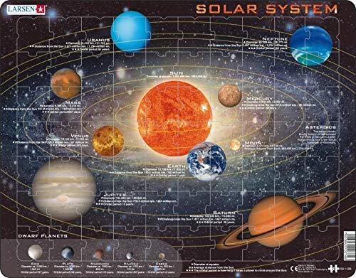 Larsen SS1 Sistema Solar, edición en Inglés, Puzzle de Marco con 70 Piezas