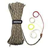 WILDAIR Survival Paracord Parachute Fire Cord Survival Ropes 4-in-1 5/32' Diameter U.S. Military Type III with Integrated Fishing Line, Fire-Starter Tinder (Desert Camo)