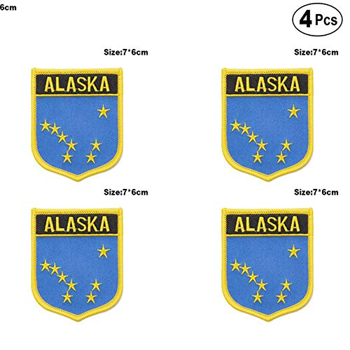 U.S.A Alaska Shiled Shape vlag patches nationale vlag patches voor Cothing DIY Decoratie PT0051-S