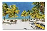 ugongchengyouxi Isla Holbox, México - Configuración de Playa Tropical 9025376 Rompecabezas de 29.5 * 19.7 Pulgadas de 1000 Piezas