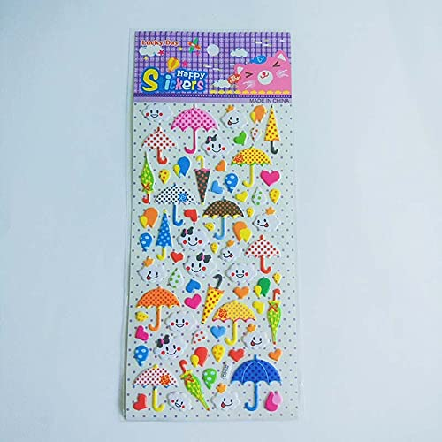 PMSMT Encantadoras Pegatinas Coloridas para Paraguas, Juguetes para niños,Accesorios para álbumes de Fotos DIY, Libros de Mano Decorativos, Diarios de Viaje