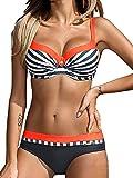 UMIPUBO Conjuntos de Bikinis para Mujer Push up Dos Piezas Acolchado Lunares/Rayas/Estampado de Cristales Ropa de Playa Color Degradado Traje de baño Tallas Grandes Traje de baño