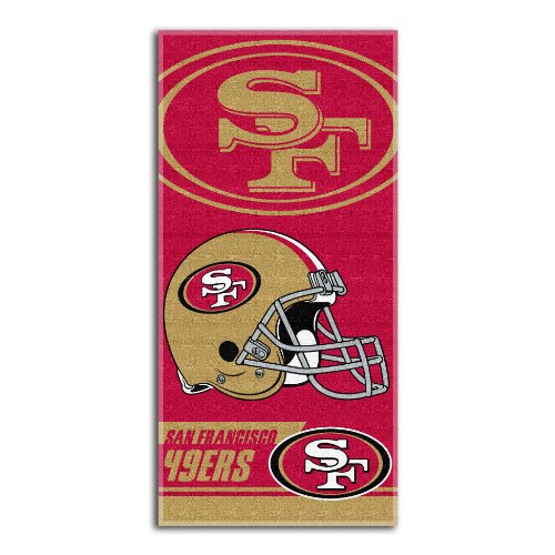 NFL San Francisco 49ers Double Covered Beach Towel, 28 x 58-Inch