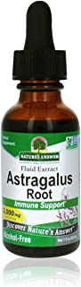 Nature's Answer Astragalus Root Alcohol Free Herbal Supplement 1 Ounce ( 2 Pack ) | Immune Support | Promotes Cardiovascul...
