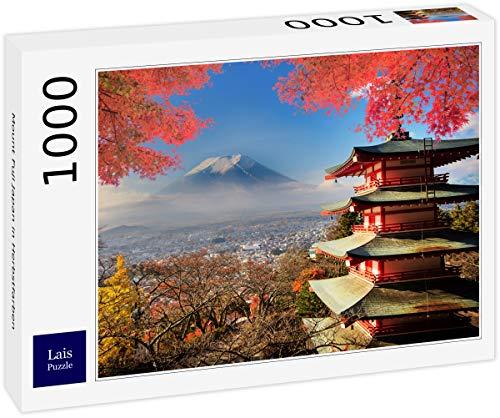 Lais Puzzle Mount Fuji Japan in Herbstfarben 1000 Teile