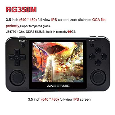 MJKJ Handheld Game Console , RG350M Retro Game Console OpenDingux Tony System , Free with 32G TF Card Built-in 2500 Classic Game Console 3.5 Inch IPS Screen , HDMI Output Video Game Console from MJKJ