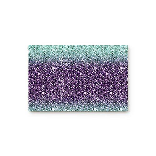 Cloud Dream Home Marble Door Mats Kitchen Floor Bath Entryway Rug Mat Absorbent Indoor Bathroom Decor Doormats Rubber Non Slip Teal Purple 20x31.5inch