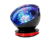 Newest Ocean Wave Projector, GRDE 12 LED Night Light Lamp with Adjustable Lightness Remote Control Timer 8 Lighting Modes Music Speaker Light Night Light Projector for Baby Kids Adult Bedroom Liv