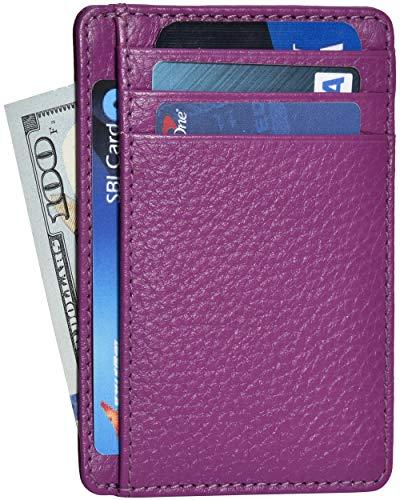 Portafoglio da donna in pelle carino RFID che blocca Smart Design Slim minimalista portafogli