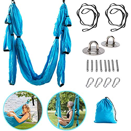 Why Choose YOLEZI Aerial Yoga Swing Set Sling, Indoor Ceiling Hanging Yoga Inversion Swing Fitness A...
