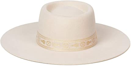 Lack of Color Women's Juno Boater Wool Hat with Brocade Ribbon Trim