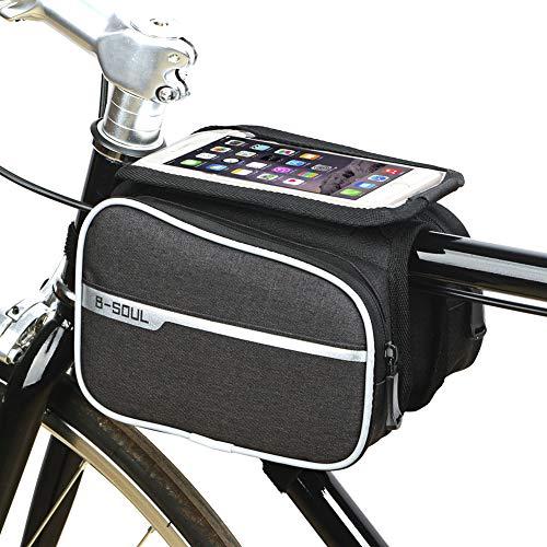 Bolsa Bicicleta MontañA Bolsas para Bicicletas Bicicleta De Montaña De Accesorios Bolsa De Bicicleta Ciclismo Bolsa Accesorios Black,Free Size
