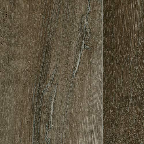 PVC Vinyl-Bodenbelag in Landhausdiele Eiche Dunkel   PVC-Belag verfügbar in der Breite 2 m & in der Länge 1,5 m   CV-Boden wird in benötigter Größe als Meterware geliefert
