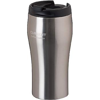 Atlas(アトラス) コーヒー Coffee 【CURRENT】 カレント 真空 断熱 2重構造 ダブル ステンレス 蓋付 タンブラー シルバー 350ml AFTN-351SV