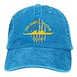 Uliykon - Gorra de béisbol para Hombre, diseño de la Bandera de los Estados Unidos, Color Azul Marino, John S. McCain DDG-56
