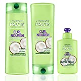 Garnier Hair Care Fructis Curl Nourish Shampoo, Conditioner, and Butter Cream Leave In Conditioner