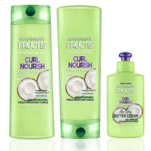Garnier Hair Care Fructis Curl Nourish Shampoo, Conditioner,...