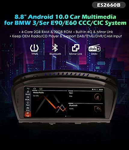 Autoradio Erisin ES2660B 8.8' Android 10.0 OEM GPS SIM DVR per BMW 3er E60 E61 E63 E64 E90 E91 E92 E93 CIC CCC System
