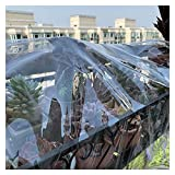 AWSAD Lona Transparente Impermeable Toldos Impermeables Resistente con Ojales Fácil de Doblar para Plantas Techo Invernadero, 23 Tamaños (Color : Clear, Size : 2.3x2.8m)
