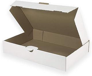 PS.102 Versandtaschen wei/ß Vollpappe Karton DIN A5+ 25 flach: 270x215mm // aufgestellt 240x165x50mm
