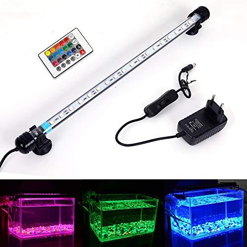 MLJ LED Aquarium Lighting Luce di Pesce Drago Illuminazione per Acquario Impermeabile (Deutschland Lagerhaus) (37cm, RGB)