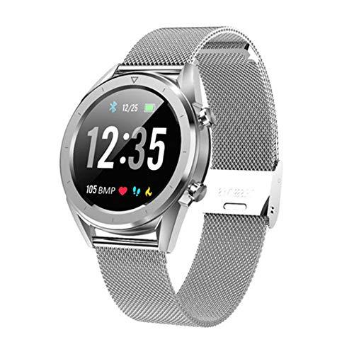 LJMG Nuevo DT28 Hombre Smart Watch IP68 ECG Impermeable ECG Ritmo Al Corazón Medidor De Presión Arterial Tracker Smartwatch Deportes Pulsera Inteligente para Android iOS Teléfono,C