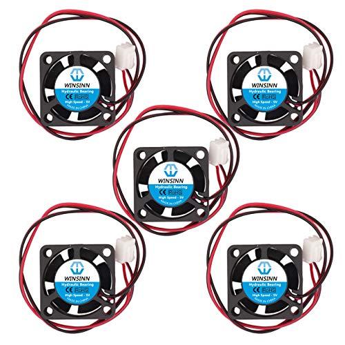 WINSINN 25mm Lüfter 5V Hydrauliklager bürstenlos 2510 25x10mm für DIY Mini Kühl PCB/Notebook/Grafikkarte - High Speed (5 Stück)
