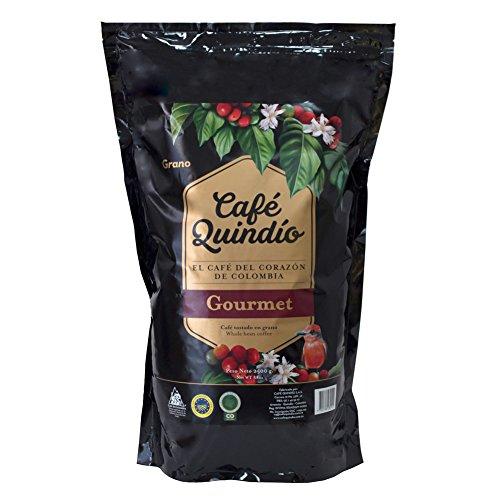 Café Quindío 100% Colombiano Gourmet Café en Grano, 2.5kg