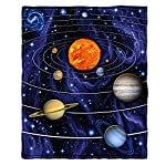 "Dawhud Direct Super Soft Full/Queen Size Fleece Blanket, 75"" x 90"" (Solar System)"