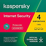 Kaspersky Internet Security 2021   4 Dispositivos   1 Año   PC / Mac / Android   Código de activación vía correo electrónico
