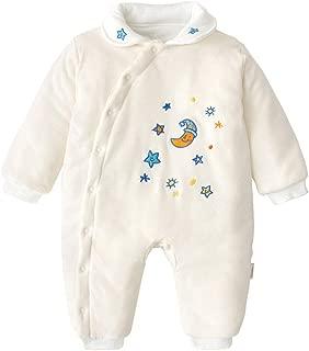 ALLAIBB Baby Infant Boy Girl Cute Cotton Snug Thick Winter Warm Romper Sleepsuit Size 66(6M) (Beige)
