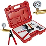 ZENO Hand Held Brake Bleeding Kit Vacuum Pump Tester with Vacuum Gauge, Adapter and Case, for Automotive Cars, Vehicles,Truck and Motorbikes