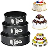 Springform Pan Set(6 8 10 inches) 3 Pieces Nonstick Cake Pan Bakeware Set Cake Mold with Removable Bottom...