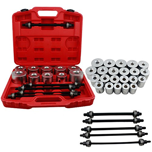 HG® 27pcs Silentlager Abzieher Bush and Bearing Press and Pull Sleeve Insertion Extraction Tool Seal Kit Removal Cars Neu