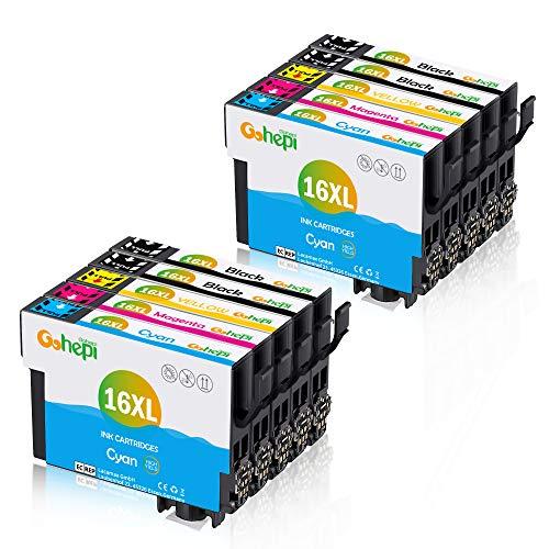 Gohepi Ersatz für Epson 16 Patronen 16XL Druckerpatronen Hohe Kapazität Kompatibel für Epson Workforce WF-2630 WF-2760 WF-2010 WF-2510 WF-2520 WF-2530 WF-2540 WF-2650 WF-2660