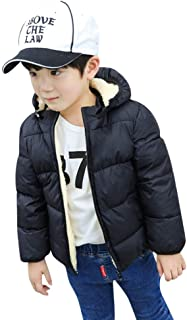 Kids Little Girls Boy Winter Hooded Fleece Coat Thick Windproof Warm Parka Down Jacket Outerwear Clothes