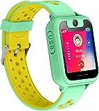 PTHTECHUS Telefono Reloj Inteligente LBS Niños - Smartwatch con Localizador LBS Juegos Despertador Camara Linterna per Niño y Niña de 3-12 Años (LBS, Verde)
