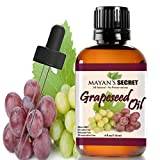GRAPESEED OIL ANTI-AGING MOISTURIZER - Facial Cleanser | Unrefined, Cold Pressed | Essential to Reduce Skin Wrinkles and Stretch Marks | Dandruff Remover