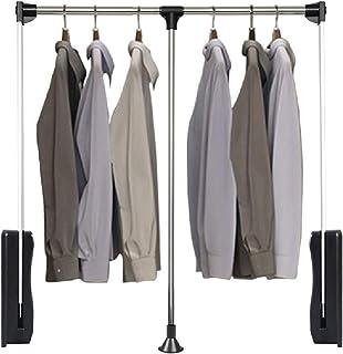 Tringle penderie, tringle à vêtements pour armoire de rangement, tringle à tirette télescopique dans le placard du vestiai...