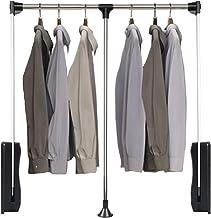 Armario desplegable, riel de ropa de elevación de armario, percha telescópica de barra de tracción en gabinete de guardarr...