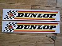 Dunlop Check & Stripes Stickers ダンロップ ステッカー シール デカール 305mm × 55mm 2枚セット [並行輸入品]