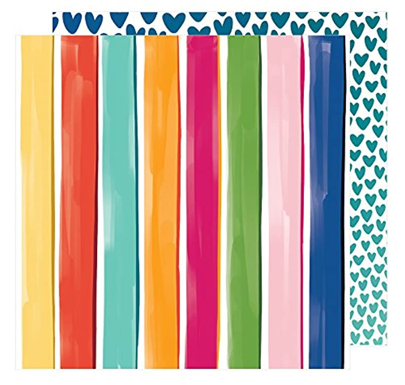American Crafts Amy Tan Hustle & Heart 25 Pack of 12x12 Inch Paper The Bright Side Piece