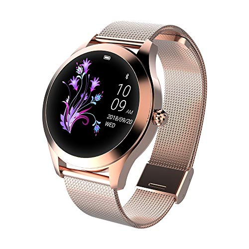 smartwatch ios waterproof Smartwatch donna KW10 waterproof IP68 bluetooth notifiche compatibile Android e iOS gold