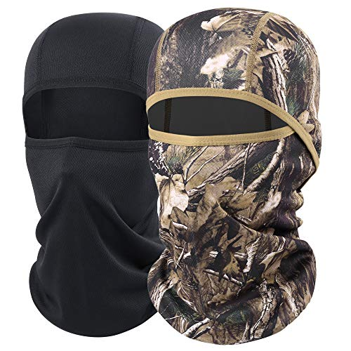 AXBXCX Camouflage Men's Balaclavas Face Mask Breathable Windproof Neck Gaiter Protection for Motorcycles Hunting Fishing Camping Skiing BE-H-01+BE-P-01