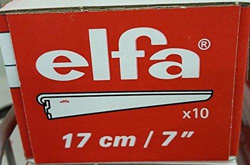 10 pack of 17cm / 7 inch Elfa Bracket for Solid Shelving White storage shelf