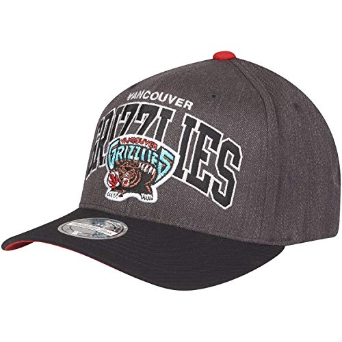 Mitchell & Ness Vancouver Grizzlies G2 Arch INTL845 Charcoal 110 Curved Eazy NBA Flexfit Snapback cap One Size