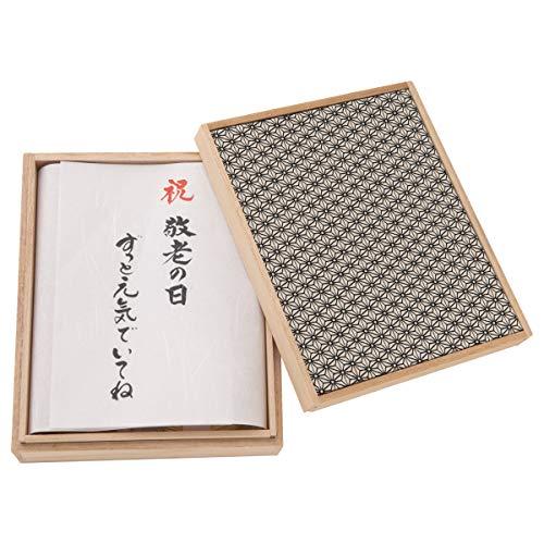 (赤ちゃんまーけっと) 敬老の日 プレゼント ギフト okuru 紅白うどん 麻の葉 桐箱入り 450g